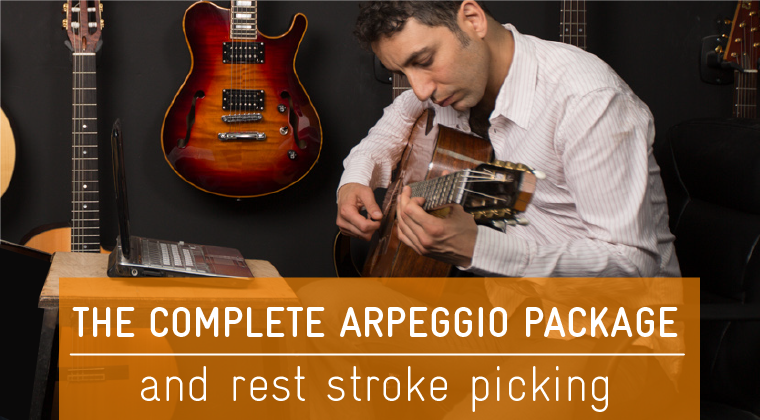 The Complete Arpeggio Package and Rest Stroke Picking $109